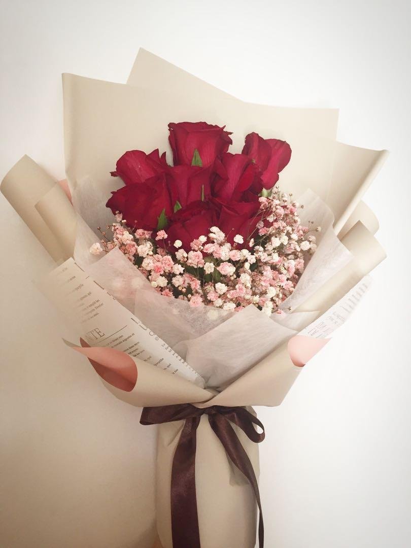 Dmalda Flower Bouquet Red Roses 520 Anniversary Wedding Birthday Gift Romance 12 Rose Bouquet 33 Rose Bouquet 128 52 Rose Bouquet 158 Proposal 99 Rose Bouquet 199 Monthly Promotion Everything Else On Carousell