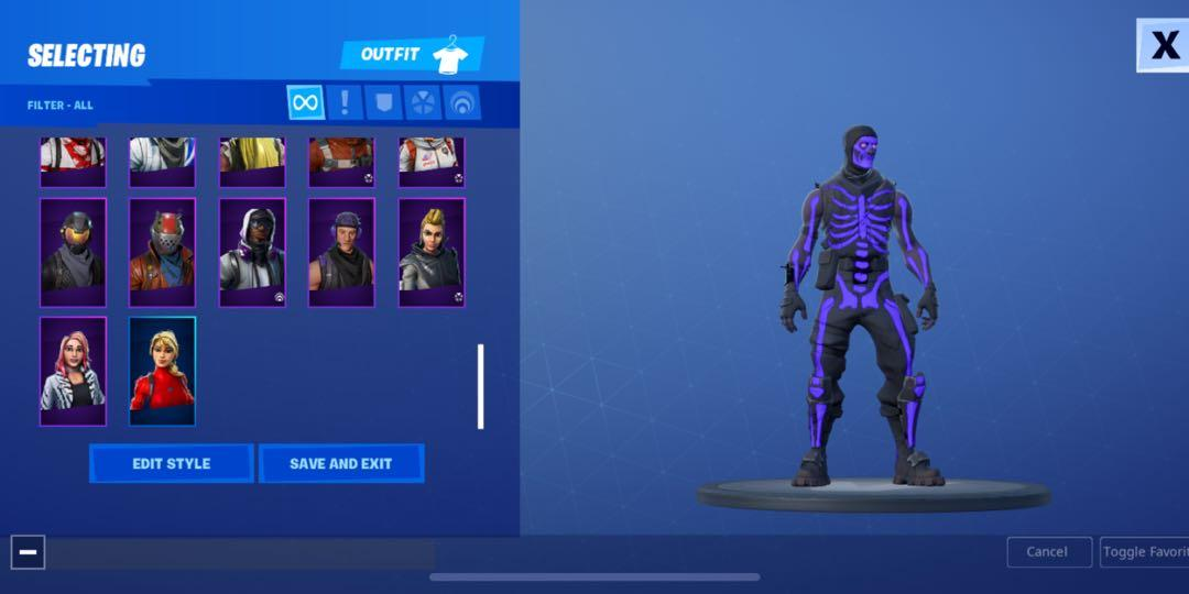 [FA] OG/Purple Skull Trooper + Black Knight + BOTH NVENC Bundles Fortnite Account