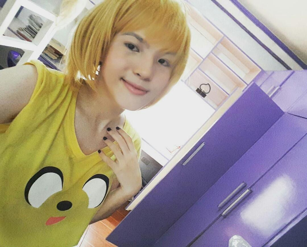 for rent: Hitoka Yachi Blonde/Yellow Cosplay Lace Wig