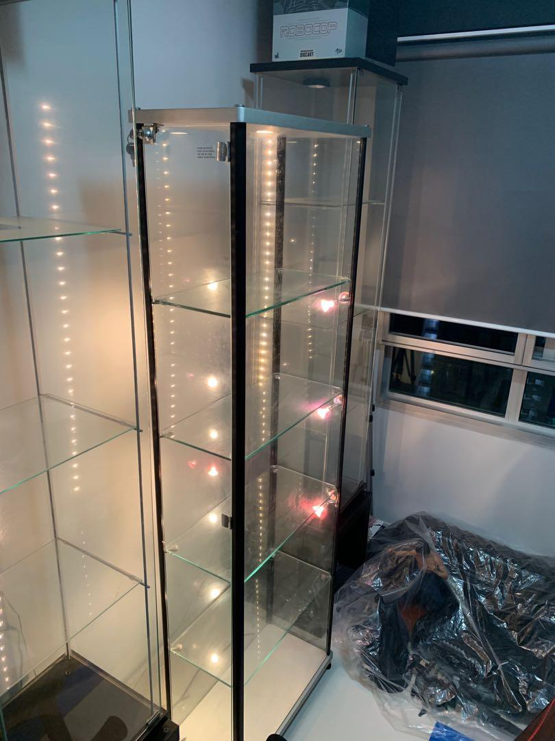 Picture of: Glass Display For Hot Toys Furniture Shelves Drawers On Carousell