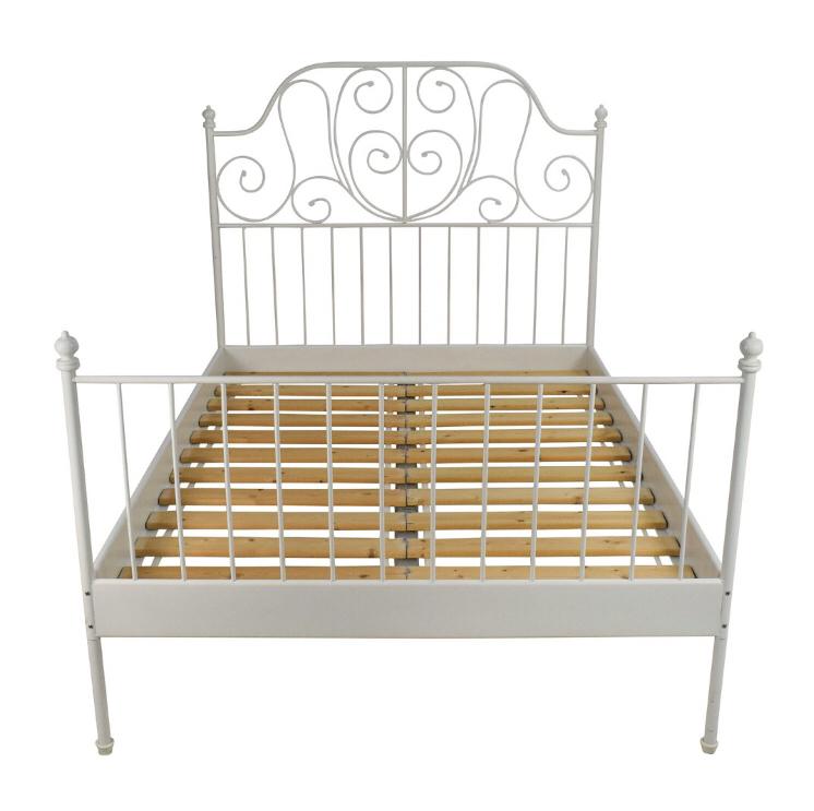 Ikea Leirvik Bed Frame White 150x200 Cm