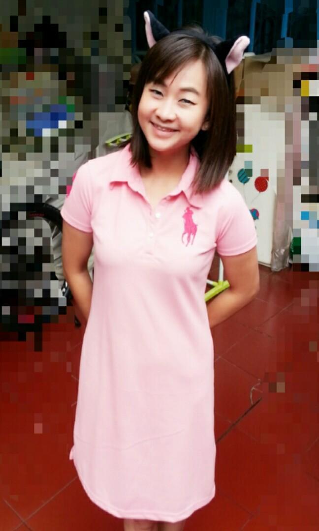 #Joinagustus POLO dress baby pink