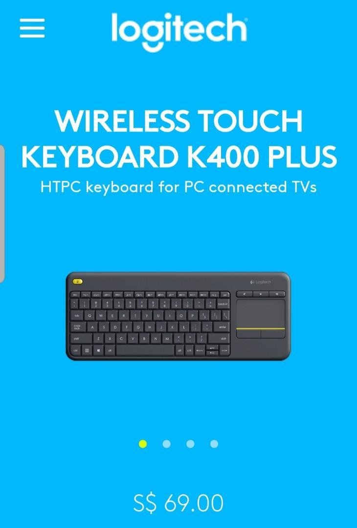 Logitech Wireless Keyboard K400 Plus on Carousell