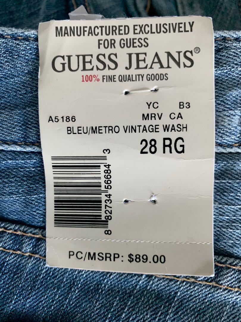 New ladies boot cut guess jeans - size 28