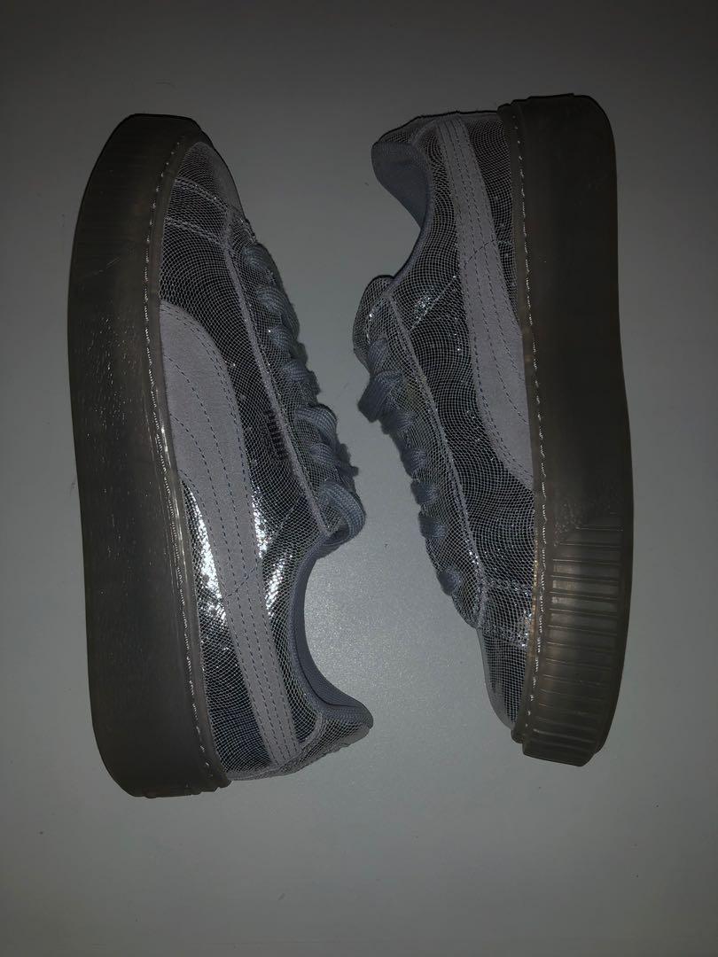 Puma Platform Glitter sneakers