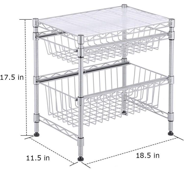 Stupendous Rackaphile Stackable 2 Tier Sliding Basket Organizer Drawer Download Free Architecture Designs Scobabritishbridgeorg