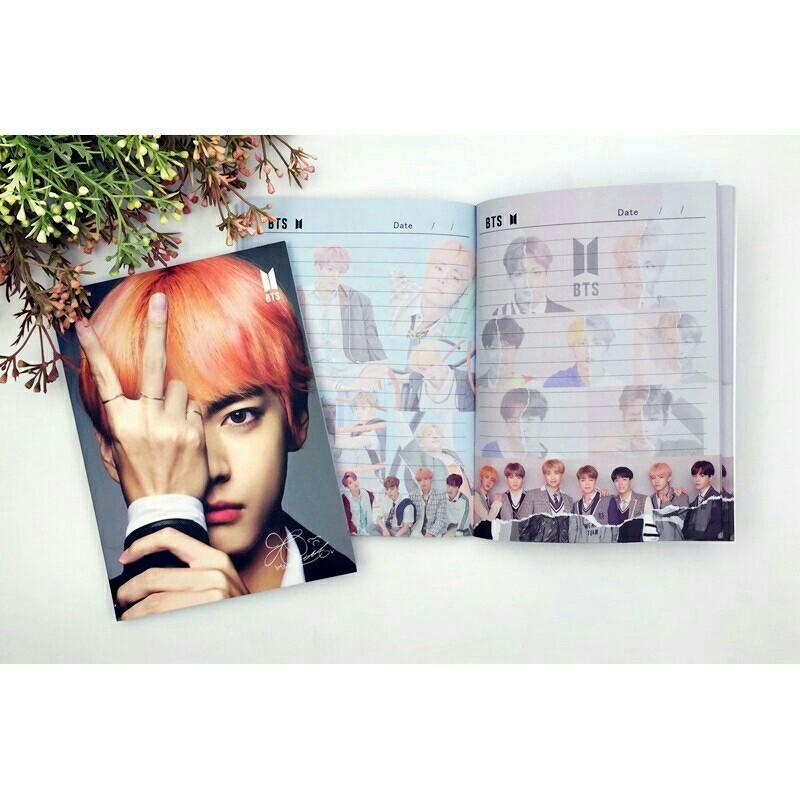 ❤️READY STOCK❤️BTS Notebook 120pg Jungkook Jimin Suga V JHope Jin RapMonster