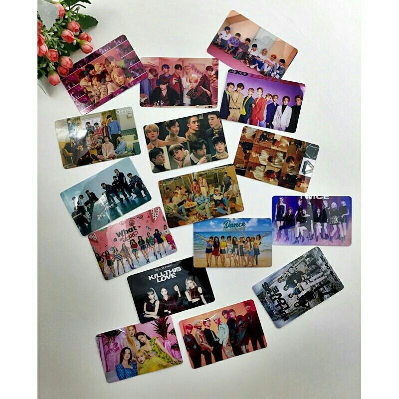 ❤️READY STOCK❤️Card Sticker (1pcs) BTS BlackPink Exo Twice iKON etc