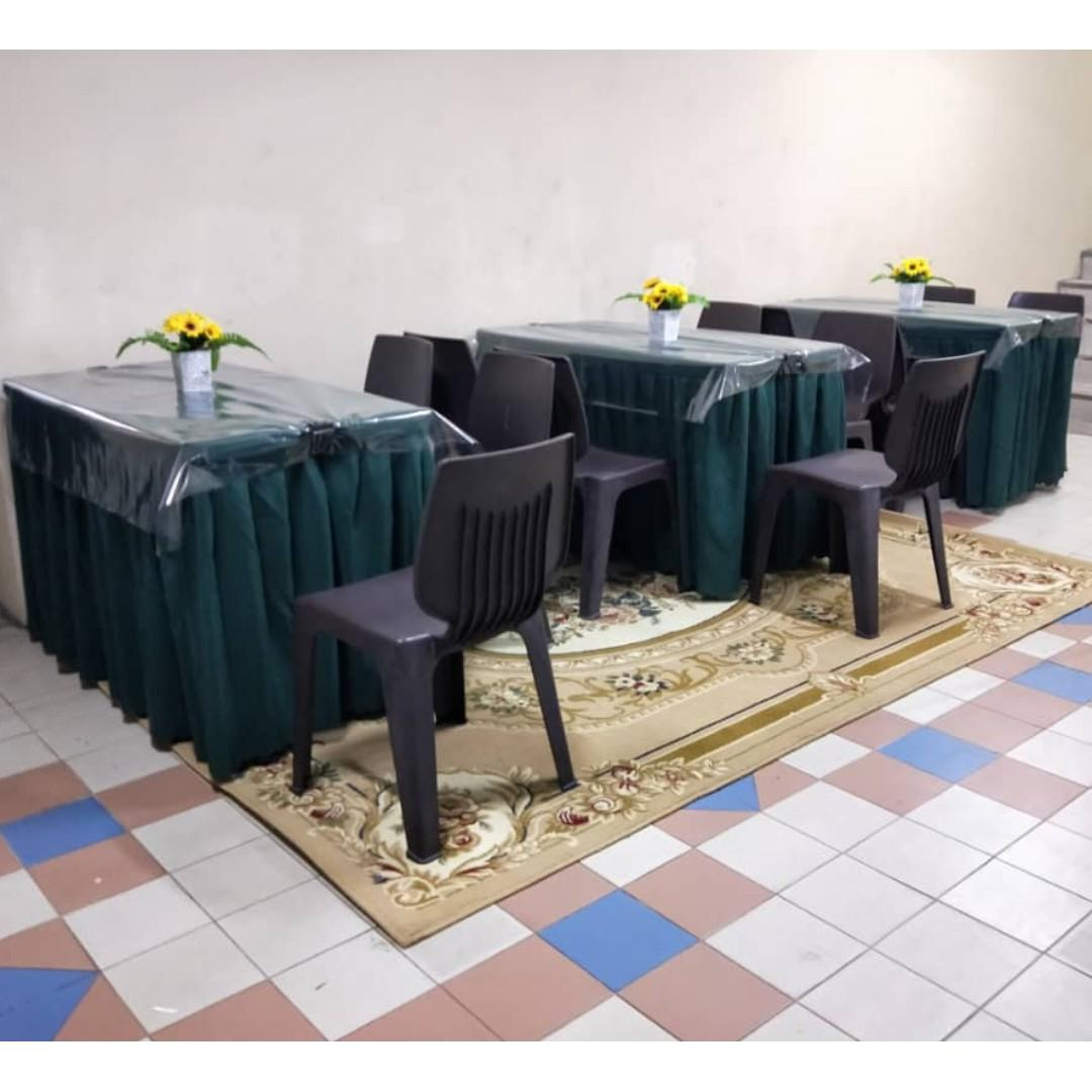 [Rent] Tables and Chairs Rent Rental Cheap Deliver Setup Event Function Wedding Birthday Party Flee Market Roadshow Kenduri Buffet BBQ Barbecue Barbeque Rental Open House Celebration 14