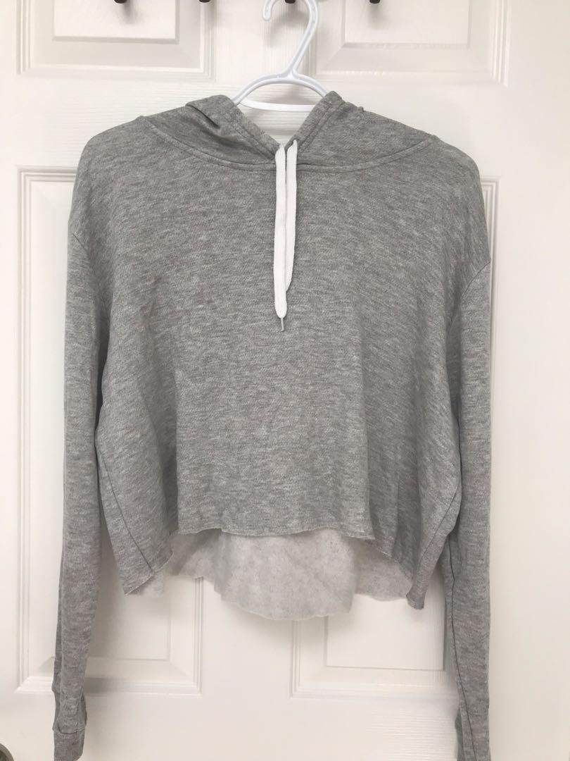 Street Society Grey Cropped Sweater