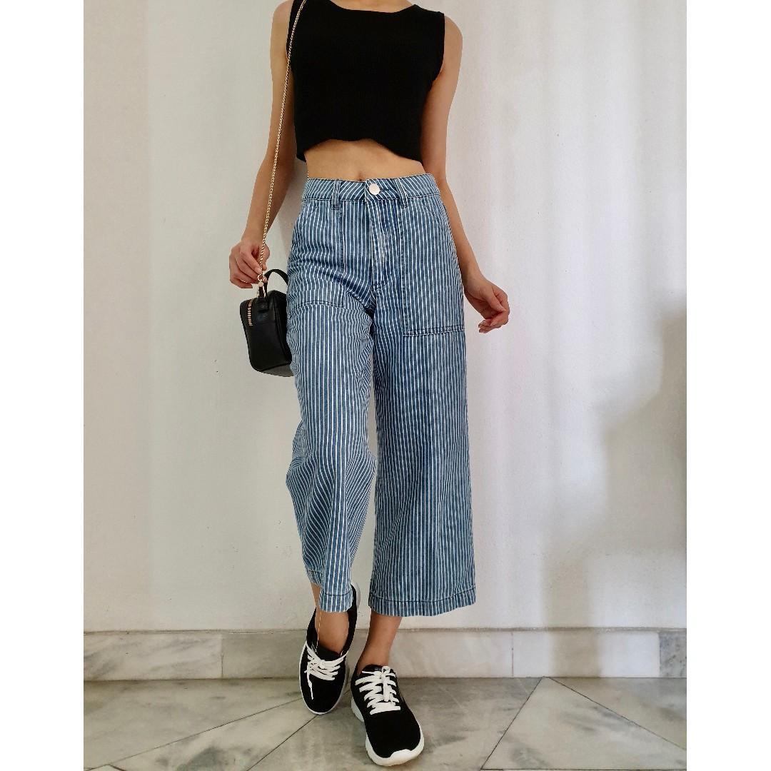 Stripy Blue Pants