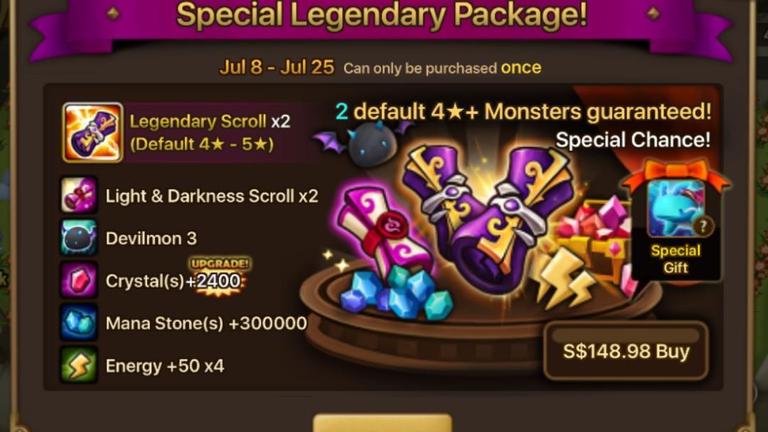 Summoners war special legendary pack