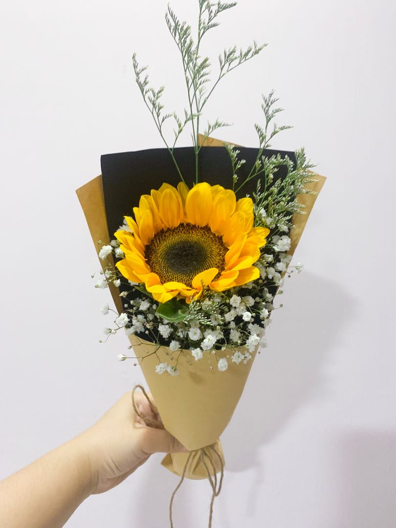 Sunflower Bouquet Gardening Flowers Bouquets On Carousell