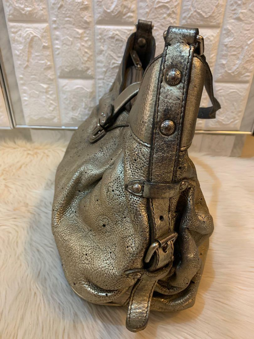 Tas LV louis vuitton vintage limited edition gold, full leather size 30 mewah  authentic 100%