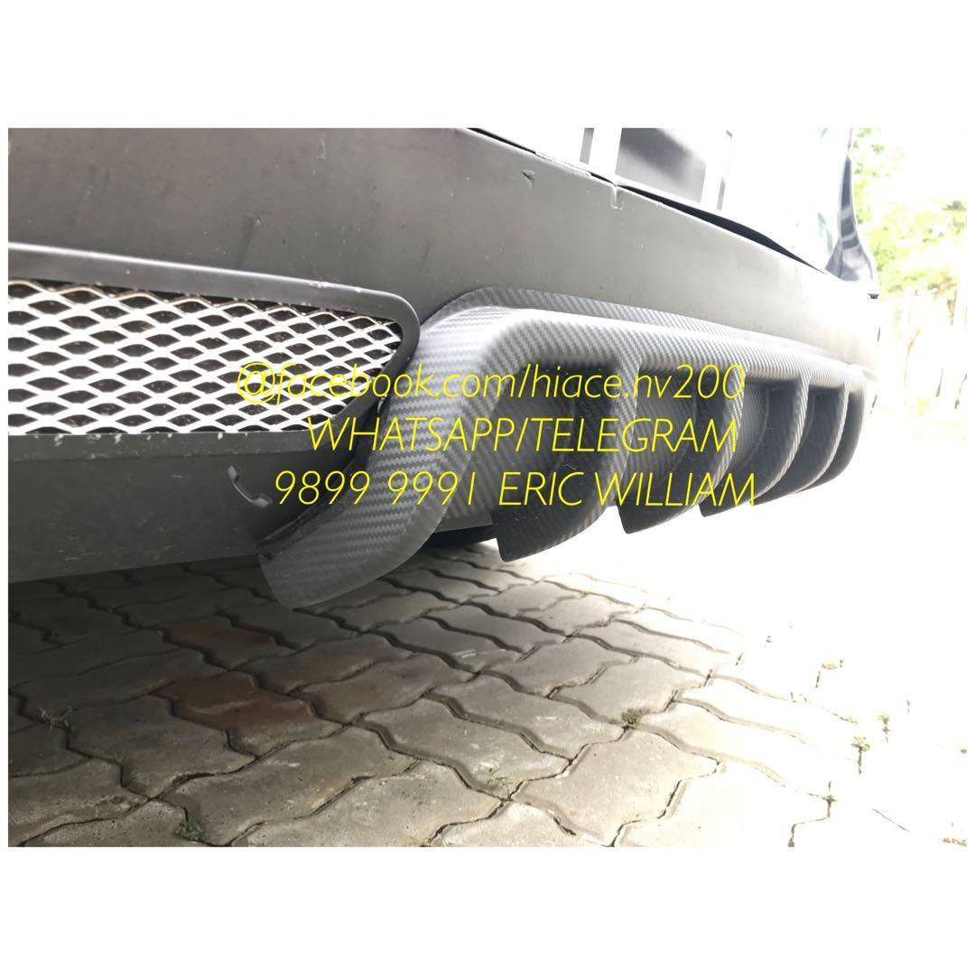Toyota Hiace  - Nissan NV200 - Nissan NV350 Van - Universal Car Rear Bumper Lip Diffuser / Hiace - NV200 - NV350 Accessories >>READY STOCKS!!