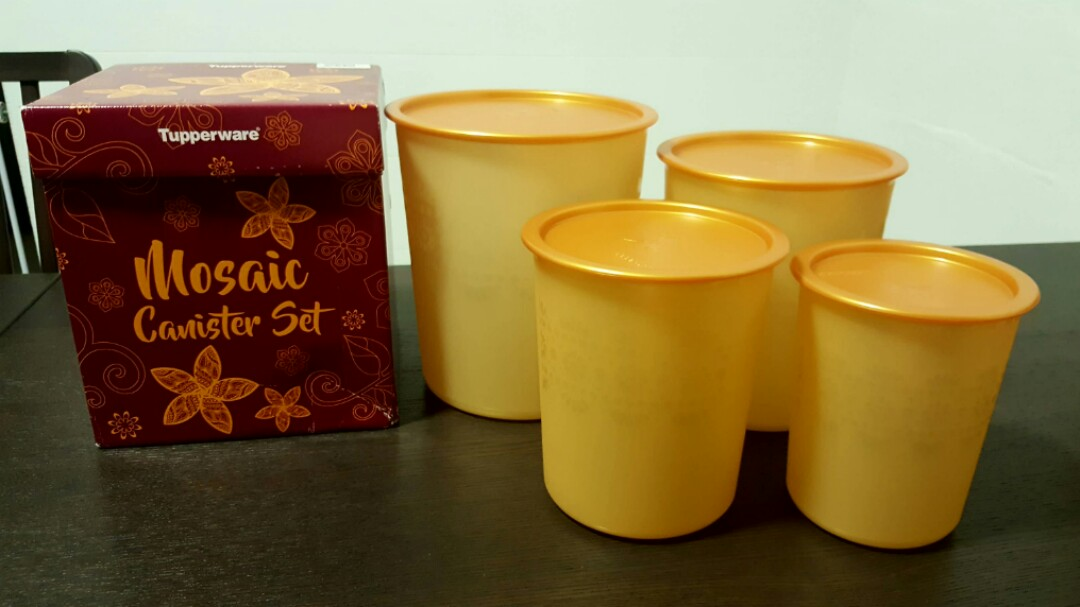 Mosaic Canister Gold Set Shopee Malaysia Source · Share This Listing. Share This Listing. Tupperware Mosaic Canister Set 1set 4pcs ...