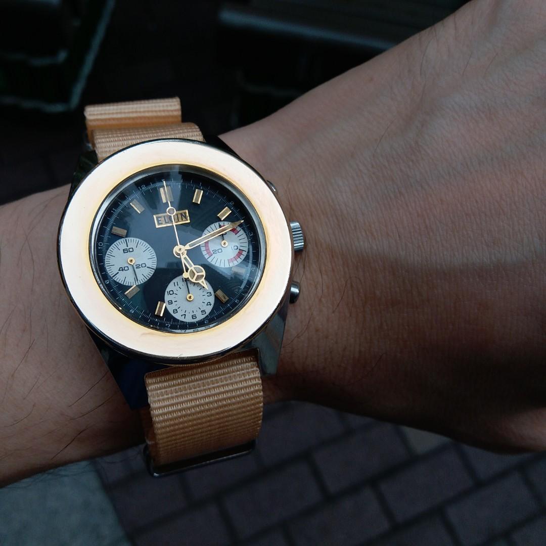 premium selection 67bab c4b0e Vintage bulova sea hunter chronograph, change to Elgin dial ...