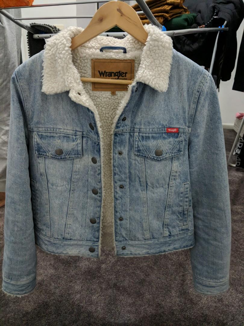 Wrangler denim Borg jacket