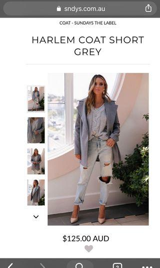 Grey blazer coat jacket