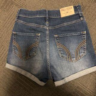 Hollister blue denim shorts