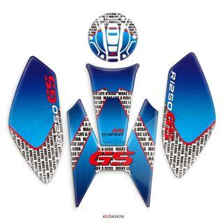 BMW R1250GS tank middle sides fish bone protection cap fuel R 1250 GS 1250GS R1250 left right decal sticker