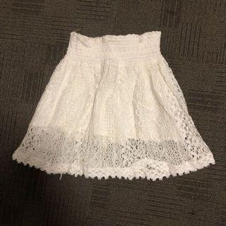 Hollister white skirt
