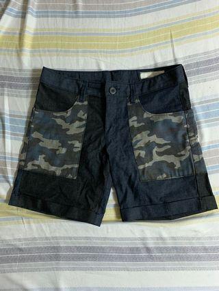 韓國短褲 版挺 迷彩