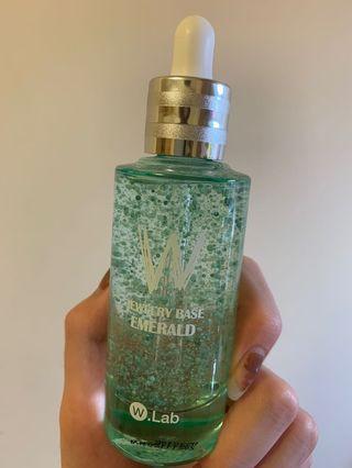 🚚 W.lab綠色新品名模聚光妝前精華55ml超大罐 可以用超久