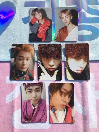 NCT127 Official Album Photocards (Chain/Firetruck/Cherry Bomb)