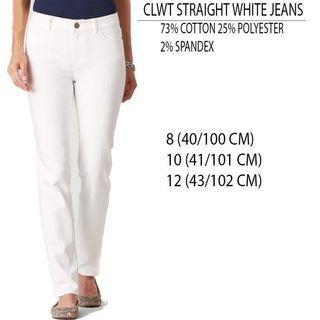 Branded Cold water straight white jeans