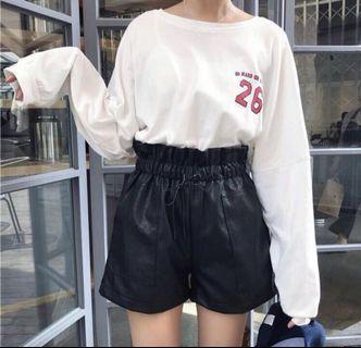 Style nanda Pockets Short Faux Leather #AmplifyJuly35