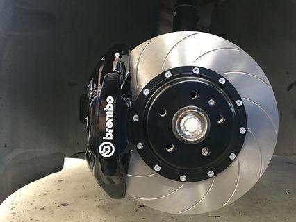 Brembo 4 pot OE (F50) brake kit.