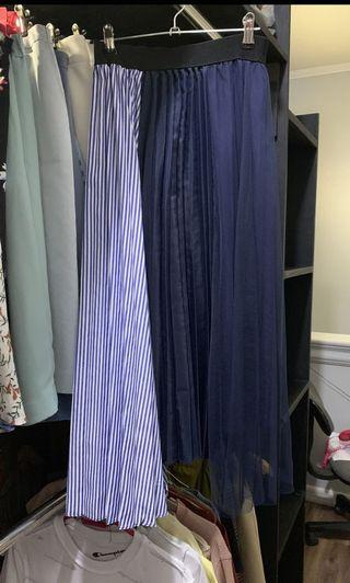 Navy and stripes skirt