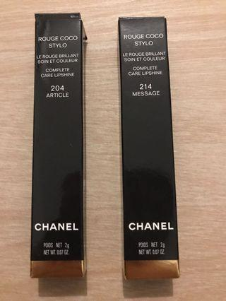 Chanel Rouge Coco Stylo #204 #214
