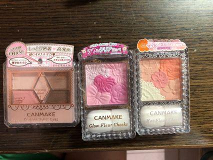 Canmake 眼影  全新日本 粉、橘、大地