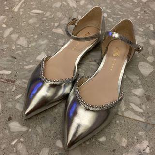 Katie Judith 銀色平底鞋
