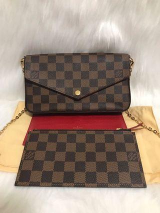 🚚 [FINAL 1150$]Louis Vuitton Pochette Felicie GM Damier