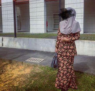 Baju kurung peplum cotton
