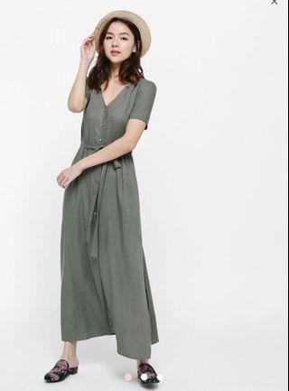 🚚 Love Bonito Etteh Shirt Maxi Dress in Sage
