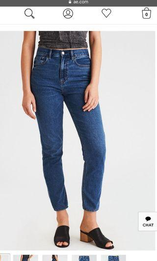BRAND NEW American eagle mom jeans (black and denim)