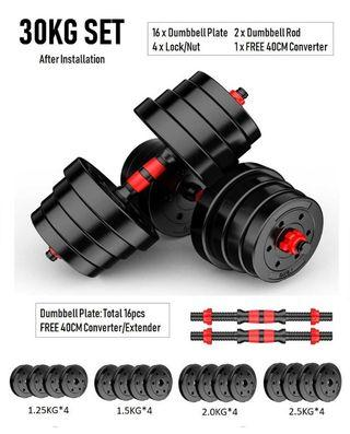 30KG Dumbbell Set FREE 40cm Connector