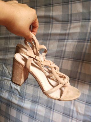 H&M pink block heels size 37