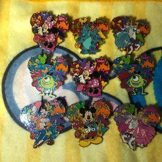 迪士尼樂園襟章Disney pin迪士尼樂園徽章交換徽章 $50/1