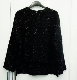 Zara Tweed Black Top