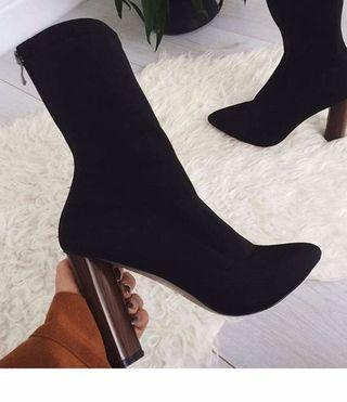 (Polly Couture) Sock Booties, Size 6.5-7