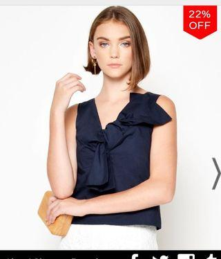 LAB Rimelle Knotted TOP Navy XS
