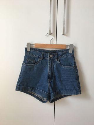 Factorie high waisted denim shorts 8