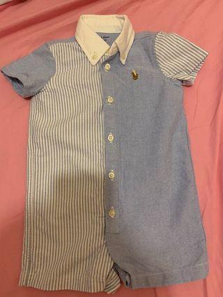 Ralph Lauren baby 裇衫連體褲