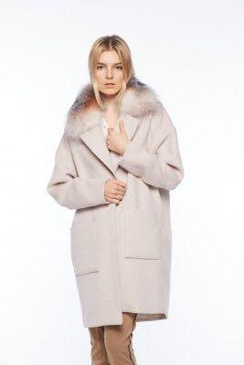 NWT - Size Small - Wool Coat with Fur Collar