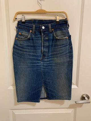 Levi's reworked denim skirt